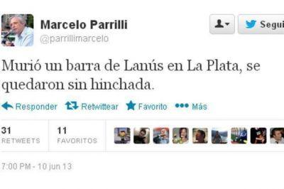 Pol�mico tuit de un pol�tico tras la muerte del hincha de Lan�s