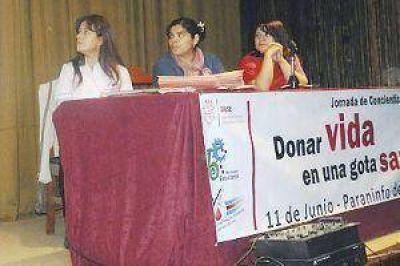 Realizan en la Unse una jornada sobre la donación de sangre