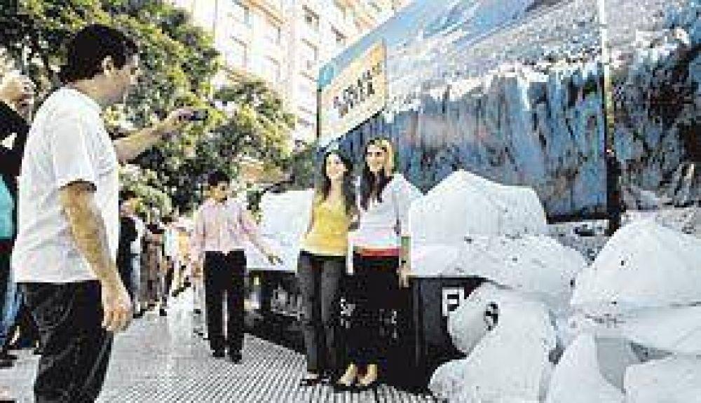 Hielo del Glaciar en la calle Florida