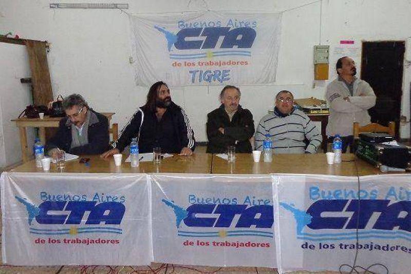 Yasky y Baradel encabezaron la reunión regional de la CTA en Tigre