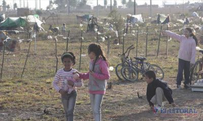 Okupas piden asistencia sanitaria para los niños