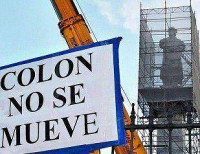 La justicia frenó el traslado del monumento de Colón de Buenos Aires a Mar del Plata