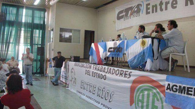 La CTA Entre Ríos convocó al plenario para julio