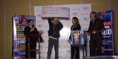 Juan Ramón Sánchez ganó $ 45.000 en el sorteo del Casino Neo Game