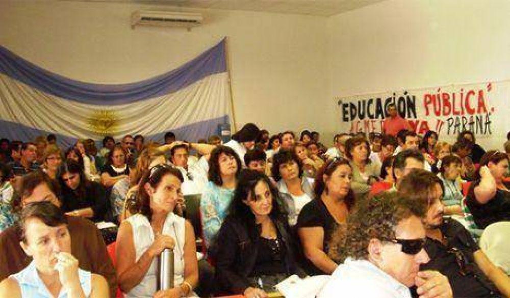 AGMER Paraná hará asambleas de dos horas en escuelas
