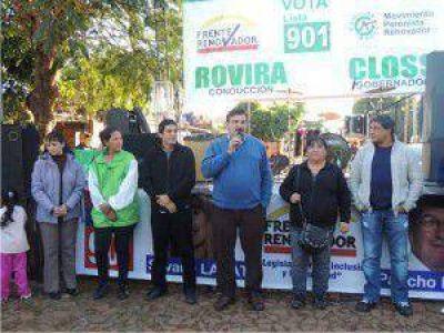 Chas visitó Andrade, Arroyo del Medio y Cerro Azul