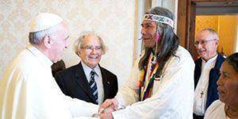 El papa recibió a Félix Díaz en el Vaticano