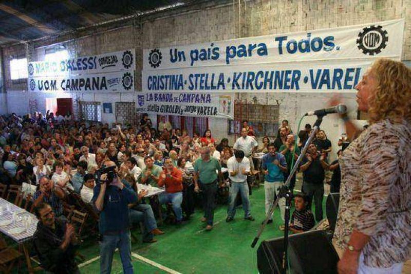 Con un gran acto en el Club Alumni: El Partido Justicialista de Campana present� su lista de Concejales y festej� el D�a del Trabajador