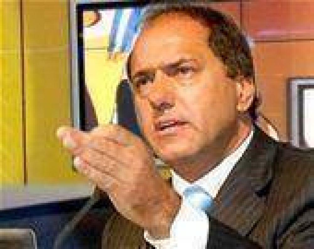 """Para Scioli, """"Kirchner es una garantía como cabeza de lista"""""""