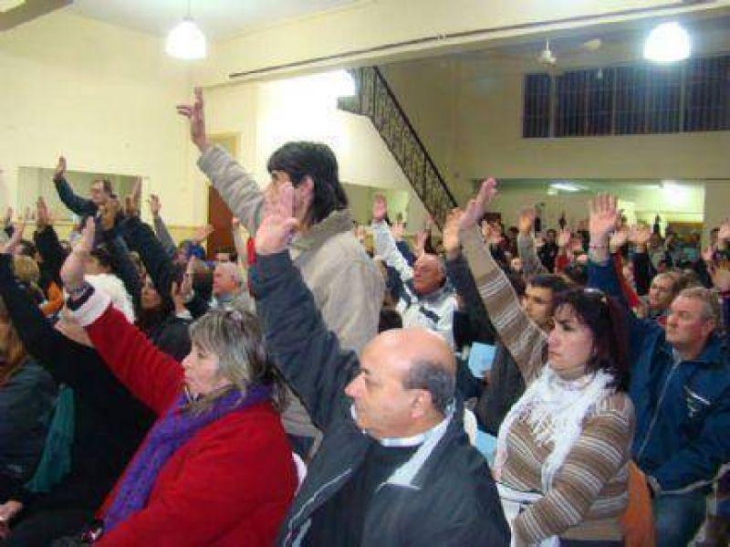 Afiliados de SUTERyH aprobaron la gestión de Juan Domingo Rodríguez en concurrida asamblea
