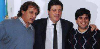 Gabriel Mariotto recibi� a los precandidatos Julio Giribaldi y Mariano Orbaiceta