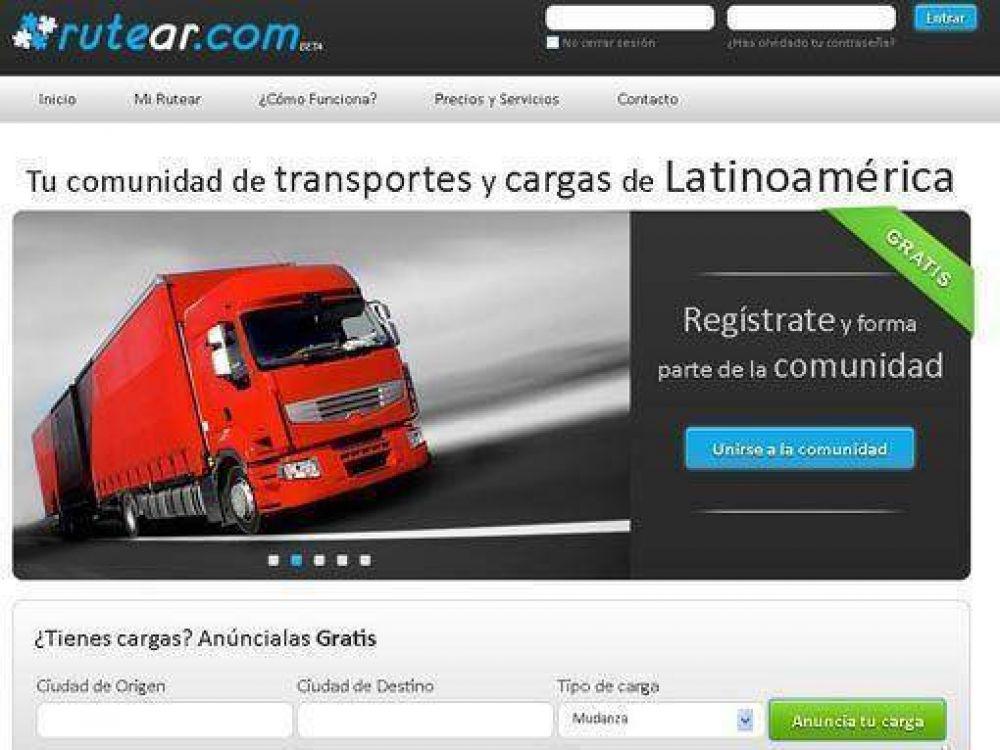 Lanzan Rutear.com, un servicio online gratuito que permite aprovechar los viajes vacíos de los transportistas de carga
