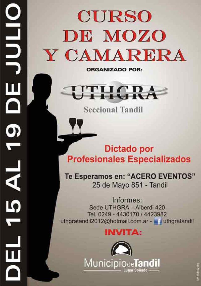 UTHGRA realizará cursos para mozos y camareras