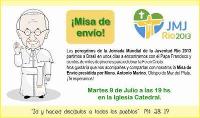 El Obispo enviará a los jóvenes que participarán de la Jornada Mundial en Río