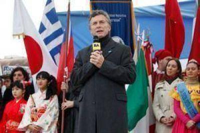 """""""Colón no se va de la ciudad"""", dijo Macri en un acto por el Día de la Independencia"""