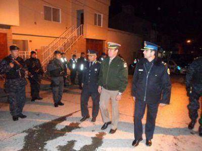 Desplegaron operativo de seguridad en La Quiaca