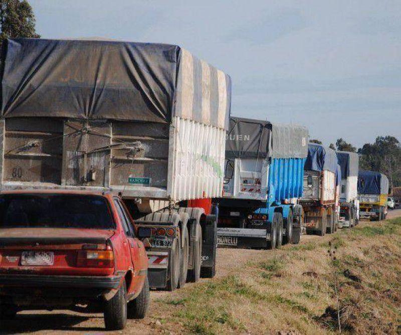 Se extiende la medida de fuerza de los transportistas de cereales