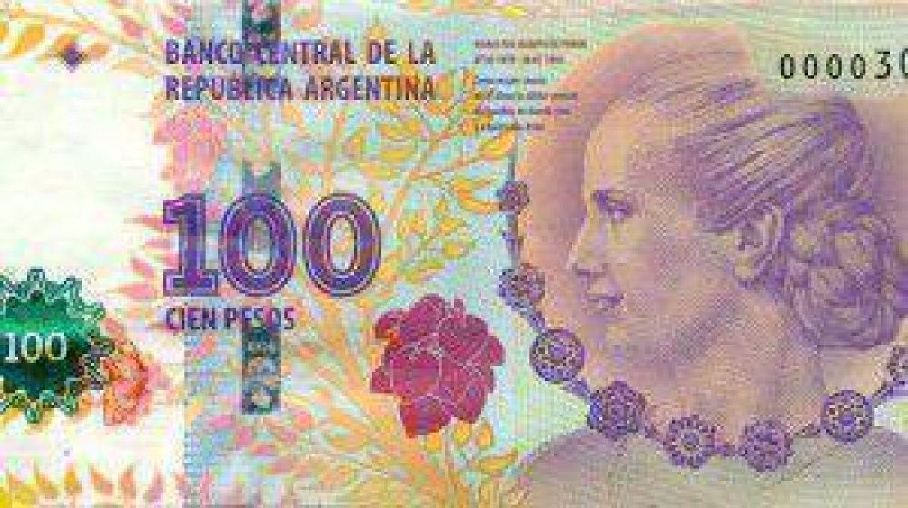 En Neuquén hay dudas con los billetes de Evita