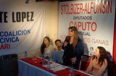 Paola Caputo presentó su lista