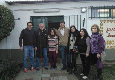 Los candidatos de Massa en San Isidro reacondicionaron un jardín