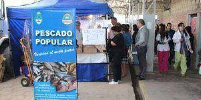 """""""Pescados, lácteos y gas para todos"""" en el Frutihortícola"""