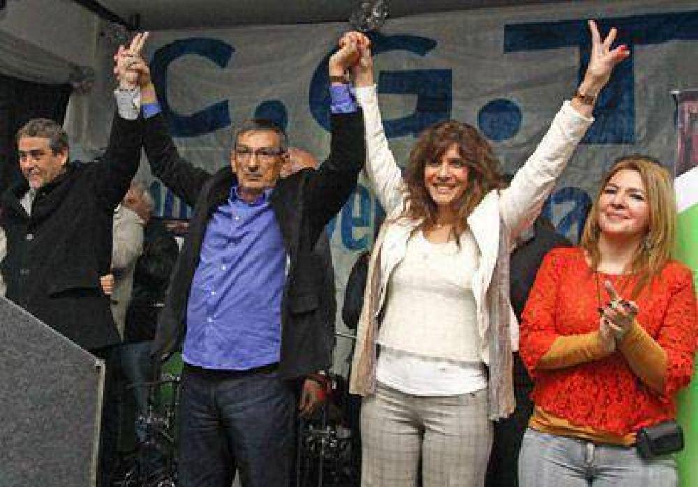 Actos de campaña de la CGT Regional en Avellaneda y Lanús