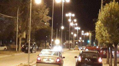 Inauguraron un nuevo sistema de iluminación en la avenida Riobamba