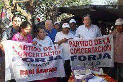 Acosta se reunión con miembros de la comunidad qom de Tres Isletas