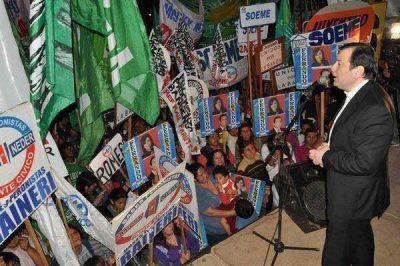 Zamora inauguró la sede del Frente Cívico por Santiago en La Banda
