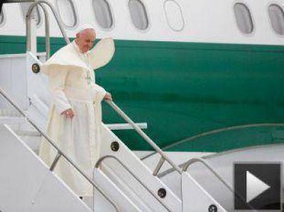 Así llegó el Papa argentino a Brasil