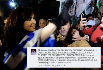 CFK realiza obras que le piden por Twitter y Facebook
