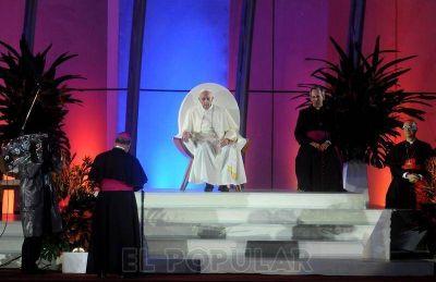 Territorio Joven saludó al Papa en Copacabana