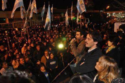 El kirchnerismo desafió a Massa con un acto por Evita en Tigre