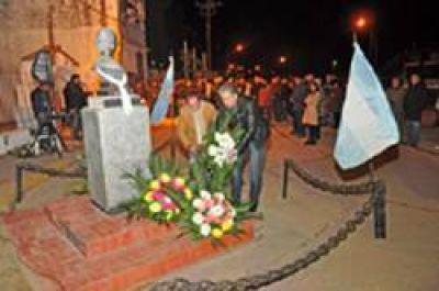 Homenaje en memoria de Eva Duarte de Perón: acto en La Emilia