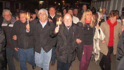Busti y Moyano homenajearon a Evita sin De Angeli