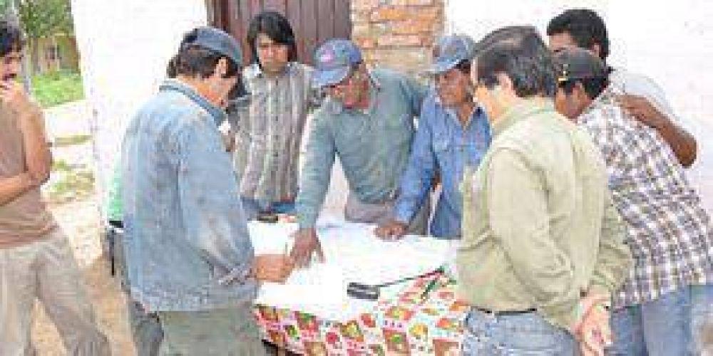 Relevamiento de tierras en comunidad aborigen