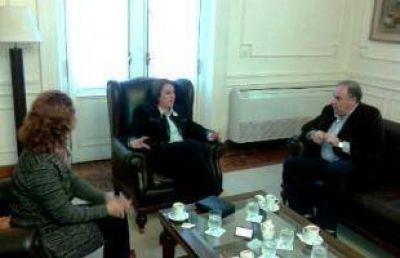 Barbieri, Chiarella y D'Andrea visitaron a la Intendenta de Rosario