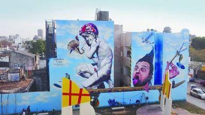 El mural más grande, en Villa Urquiza