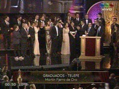 """El Martín Fierro de Oro fue para """"Graduados"""""""