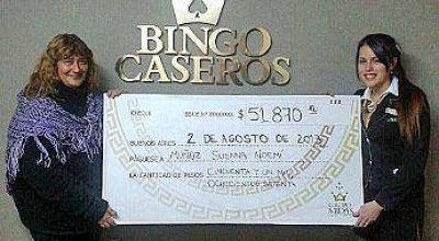 En Bingo Ciudadela un sólo jugador obtuvo más de 58.000 dólares