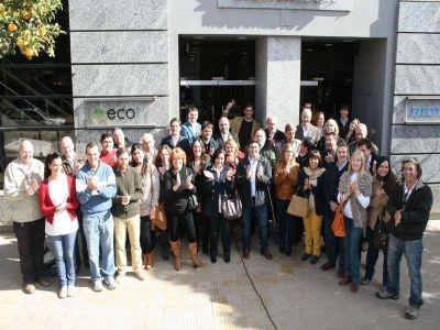 Todos los precandidatos desfilaron por El Eco Multimedio en el cierre de la campaña
