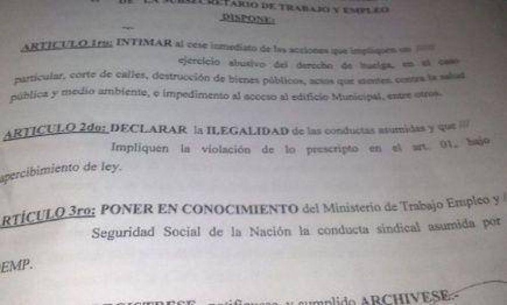 Declaran ilegal el paro del Soemp y peligra la personería jurídica del gremio
