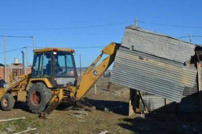Se realizó un operativo de levantamiento de asentamientos ilegales