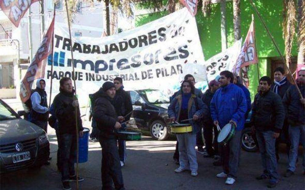 Empleados de empresa del Parque Industrial se manifestaron por nuevos despidos en la planta