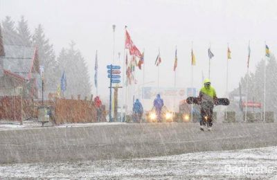 Anuncian dos frentes de nieve para los próximos días. Hay alerta por vientos.