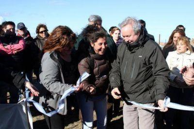 Inauguración extensión de red eléctrica en barrio San Benito