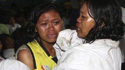 Ya son 71 los muertos por el naufragio en Filipinas