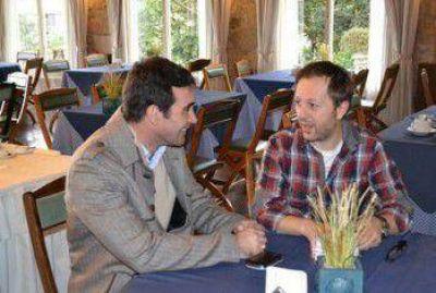 Patricio Hogan se reunió con el actor Nicolás Scarpino en pos de la cultura