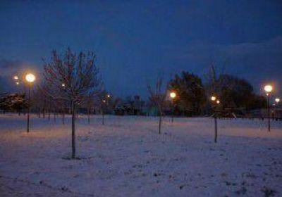 Fuerte nevada en Viedma y Patagones