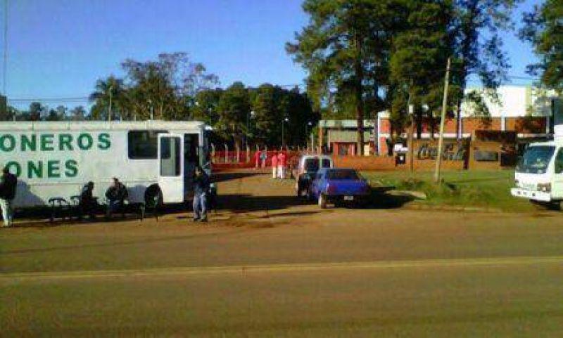Protesta de Camioneros frente a Coca Cola